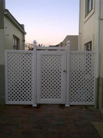 6Lattice door